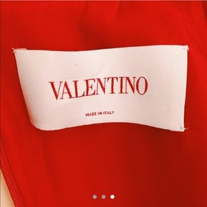 Valentino Dresses - Red collared Valentino dress!